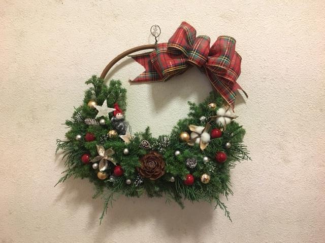 クリスマスリース教室「クリスマスリースを作ろう!」